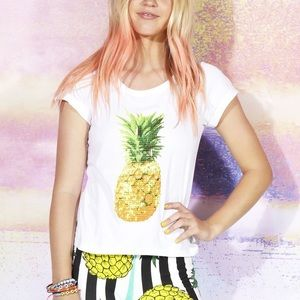 MinkPink pineapple t shirt